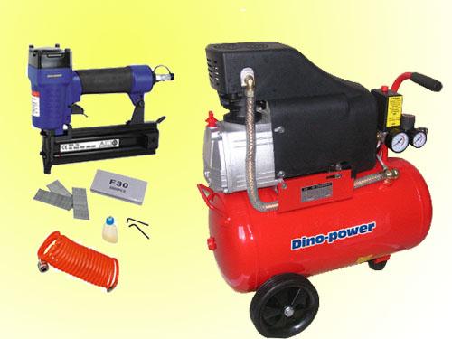 Kit compresor de aire clavadora manguera juego compresor for Compresor de aire bricodepot
