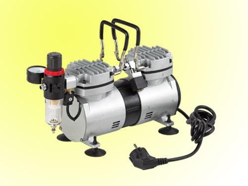 mini oilless compressor with twin cylinder professional airbrush compressor oil free compressor. Black Bedroom Furniture Sets. Home Design Ideas