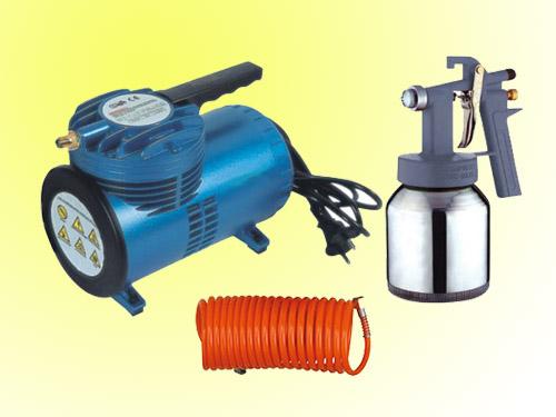 Mini Air Compressor Low Pressure Spray Gun Set Small Air
