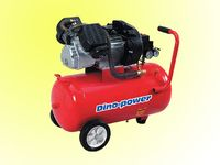 3HP Piston Air Compressor oil-lubricated with 25L 50L Vertical Tank